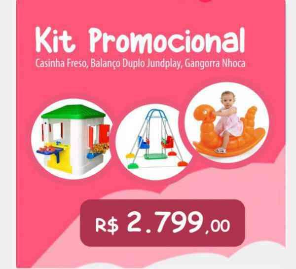 Kit Promocional - Balanço,gangorra, Casinha