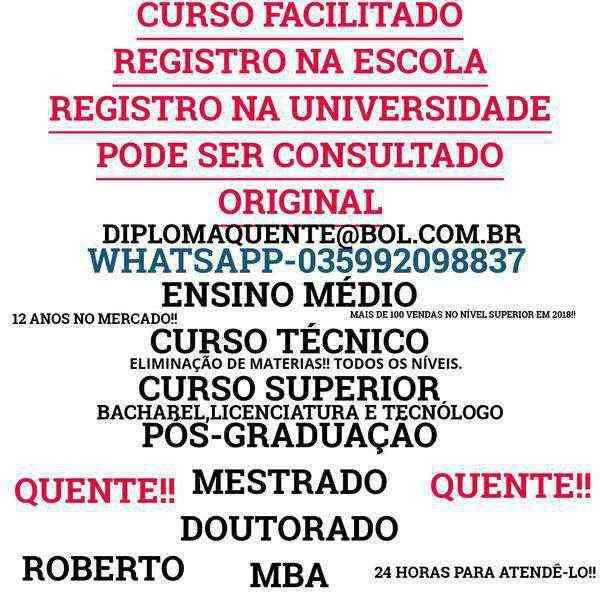 Facilite Seu Ensino!! Médio,técnico,superior(035992098837)