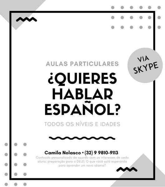 Aulas Particulares de Espanhol