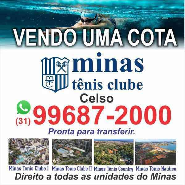 Vendo Cota do Minas Tênis Clube!!promoção de Um Mês de Condomínio Grátis. Aproveite!!