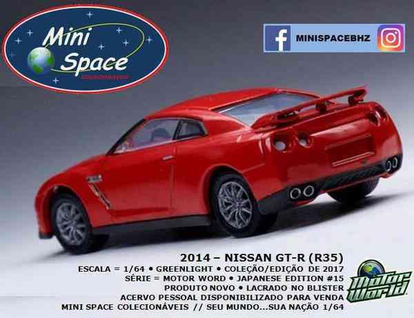 Greenlight 2014 Nissan Gt-r (r35) Cor Vermelho 1/64