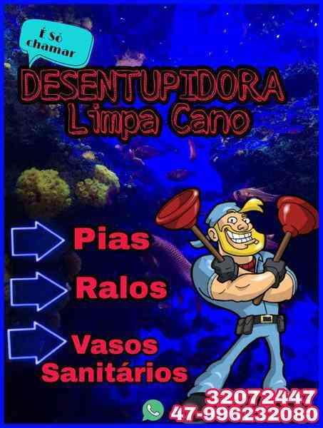 Desentupidora Limpa Fossa,em Joinville,araquari,setor Centro(47)996232080