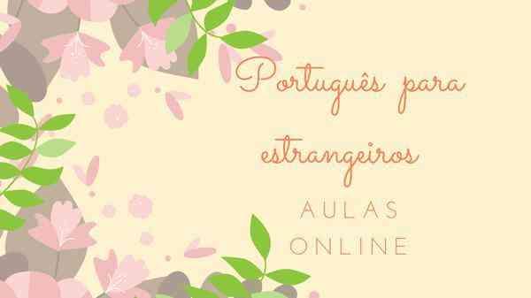 Aulas Online de Português Para Estrangeiros