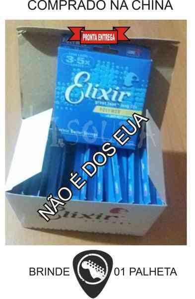 Encordoamento Guitarra 010 Elixir Menor Preço Barato - Https://Menorprecomsouzaloja.loja2.com.br/