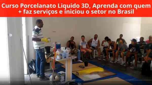 Curso de Porcelanato Liquido 3d em Rio de Janeiro Rj