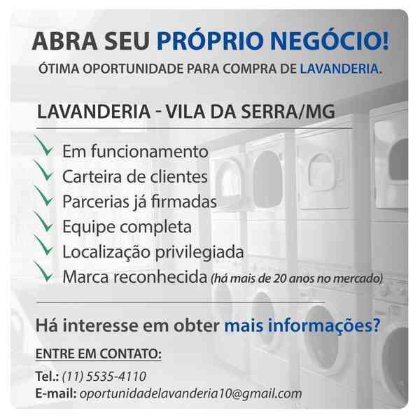 Abra Seu Próprio Negócio! Ótima Oportunidade Para Compra de Lavanderia.
