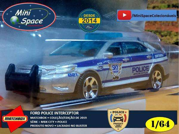 Matchbox Ford Interceptor Polícia 1/64