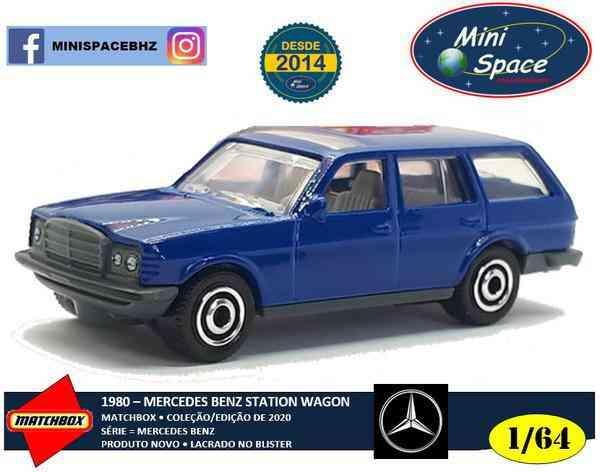 Matchbox 1980 Mercedes Benz S123 State Wagon Azul 1/64