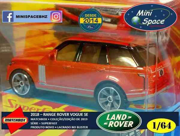 Matchbox 2018 Range Rover Vogue Se Superfast 1/64